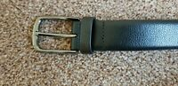PERRY ELLIS - MEN'S LEATHER BLACK BELT SIZE 36  MODEL 1P32048