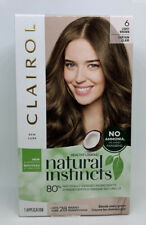 Clairol Natural Instincts Vibrant Hair Color 6 LIGHT BROWN  80% Natural NIB