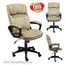 Executive Office Chair Microfiber Swivel Seat Computer Desk Support Lower Back