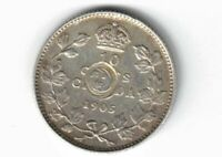 CANADA 1905 TEN CENTS DIME KING EDWARD VII STERLING SILVER COIN CANADIAN