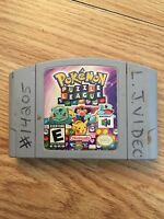 Pokemon Puzzle League Nintendo 64 N64 Game Cart Tested Works NG1