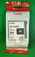 Genuine Original CANON PFI-102BK 102 BK Black Date 2014