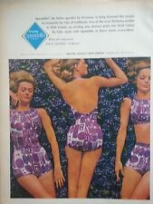 1964 Womens Cole of California Spandell by Firestone Swimsuits Vintage Fashion A