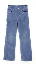 Youth Boys Vintage Levis Distressed Blue Corduroy Pants Fits 25x25 Made In USA