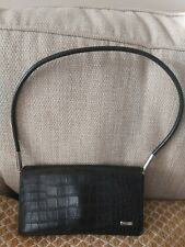NINE WEST GORGEOUS LADIES BLACK FAUX LEATHER TOP HANDLED BAG VERY GOOD COND