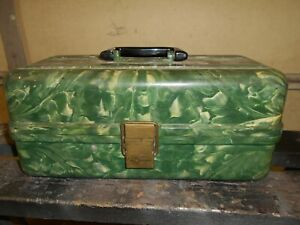 Vintage Plano Tackle Fishing Box No. 4250 With Lures Etc.