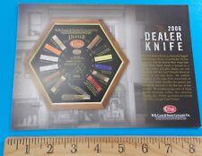 Case 2006 Dealer Knife Order Card Rhett Stidham Estate