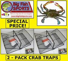 2-Pack Crab Crawfish Trap Folding Trap! New! #Tr101 Two Traps