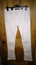 Calvin klein women's jeans white stretch cotton 33w 34l rrp £99 skinny boot leg