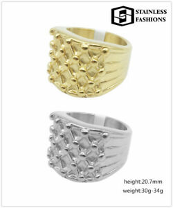 Keeper Ring High Quality 18 Carat Gold/Silver Filled Precious metal 316L Ring