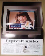 Amdek Color Poster Advertising Flyer 738 Smart Scan Monitor