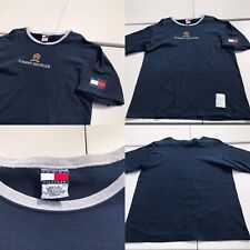 New listing Vintage 90's Tommy Hilfiger T Shirt Spell Out Crest Flag Logo Large Asap Euc