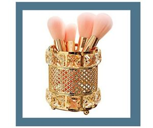 NEW Metal Gold Makeup Brush Holder Paint Brush, Candle, Cosmetic Holder