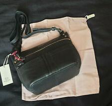 BNWT Radley Kensal textured Leather Crossbody BLACK Medium Bag + Dustbag RRP£149