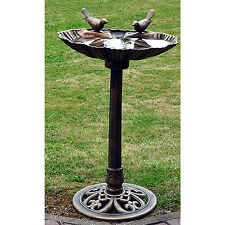 Traditional Garden Bronze Effect Wild Bird Bath Table Free Standing BBATHB