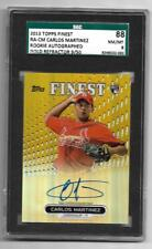 2013 TOPPS FINEST GOLD REFRACT. 9/50, CARLOS MARTINEZ, RC, CARDINALS, SGC 88