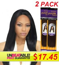 "2 PACK Outre Premium Purple Pack 100% Human Hair Yaki Weave 8"" NEW SEALED PACKS"