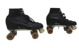 VTG BETTY LYTLE HYDE Roller Skates Sure Grip Plates Wheels 99P BLACK Size 7