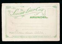 Sussex ARUNDEL Souvenir Letter Card 5 panels 160x105mm by A R Quinton