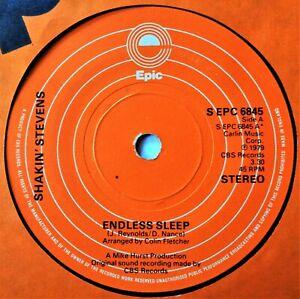 SHAKIN STEVENS Endless Sleep/Fire VINYL 45 Glam Rock & Roll UK 1979 Springsteen