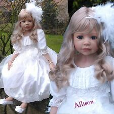 Masterpiece Dolls Alison Blonde Hair, Blue Eyes, Monka Levenig, 44-inches,