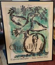 "Marc Chagall, ""Oiseau Vert"" (Green Bird) - Maeght Gallery Exhibition Poster 1962"