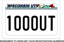 UTV license Plate, Wisconsin Style UTV License Plate