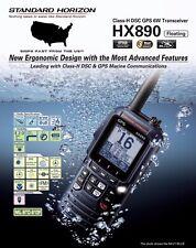 Standard Horizon Hx890 Class H Dsc 6W Floating Handheld Vhf/Gps Scrambler Radio