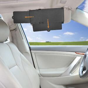 TFY Travel Car Sun Visor Uv Rays Blocker Extender Window Sun Shade for Driver