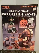 Holiday Time in Plastic Canvas Halloween Thanksgiving Christmas Dick Martin 1092