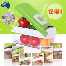 Premium Fruit Vegetable Slicer Nicer Dicer Plus Food Chopper Cutter Peeler 12in1