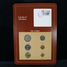 Coin Sets of All Nations - The Gambia 1971-1987 (6 Coins w/stamp)
