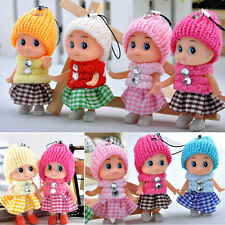New Arrival Girl Lovely Baby Dolls Toy Mini Doll Mobile Phone Accessory