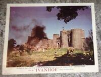 Lobby Card for Movie Ivanhoe Starring Robert Taylor, Elizabeth Taylor 1952