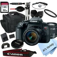 Canon EOS Rebel T7i DSLR Camera with 18-55mm f/3.5-5.6 STM Lens +18PC Bundle