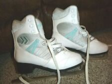 Women's Soft Cameo Figure Skating Ice Skates White Gray Size 7
