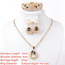 African Gold Plated Jewelry Sets New Fashion Women wedding Alloy Necklace SetS