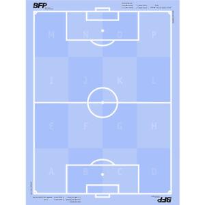 ChefPlaner selbsthaftende Fußball-Taktikfolie 60 x 80cm | 25 Folien bfp Cawila