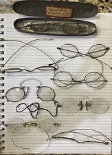 vintage antique old glasses eyeglasses spectacles, eyeglass cases