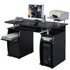 Corner Computer Laptop Desk Home Office Furniture With 3 Drawers & Printer Shelf