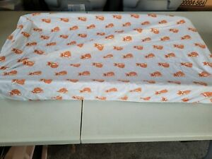 Changing Pad Cover Boys or Girls flannel Print Red Fox Changing Pad Cover