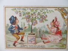 """Altes Kaufmannsbild für die Puppenstube Liebig, """"Ein Märchen..."""" von 1893"""
