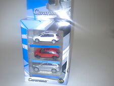 AUTO SET VW GOLF GTI, VILVO C30, AUDI Q7 1:72 CARARAMA. NEW IN BOX.