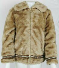 VTG Hansa Branta GOOSE DOWN Faux Fur Zip Brown Eskimo Coat Sz Womens Large