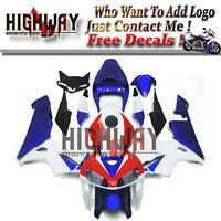 ABS Fairing Bodywork Kits For Honda CBR600 CBR600RR F5 2005 05 06 White Blue Red