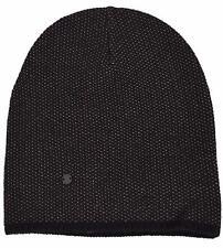 New Gucci 352350 Men's Black Beige Wool Cashmere Beanie Ski Winter Hat XL