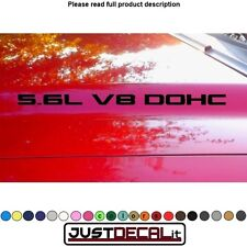 Hood decal x2 5.6L V8 DOHC text sticker