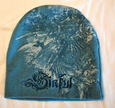"""NWT SINFUL Affliction women Beanie HAT """"OBSESSIUE"""" SH46  BABY BLUE"""