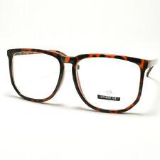 Unique Square Eyeglasses Geek Nerdy Fashion Clear Lens Eyewear TORTOISE