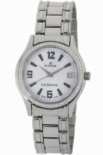 Edox Women's 70072 317TD A Les Genevez Stainless Steel DIAMOND Date Watch